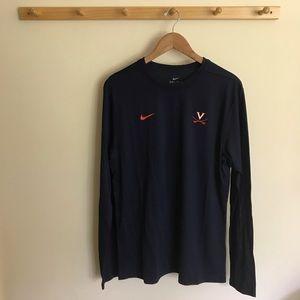 NWT Nike UVA Cavaliers Dri Fit Long Sleeve Shirt M